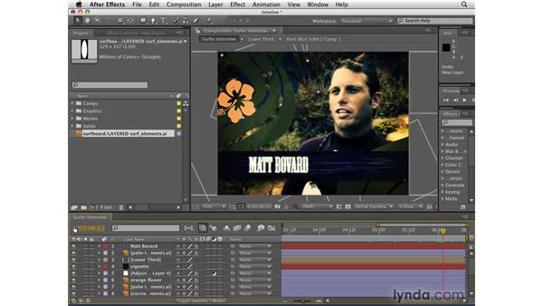 Working with the Timeline: After Effects CS4 Getting Started