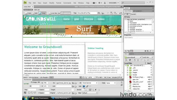Dreamweaver integration: Dreamweaver CS4 Getting Started