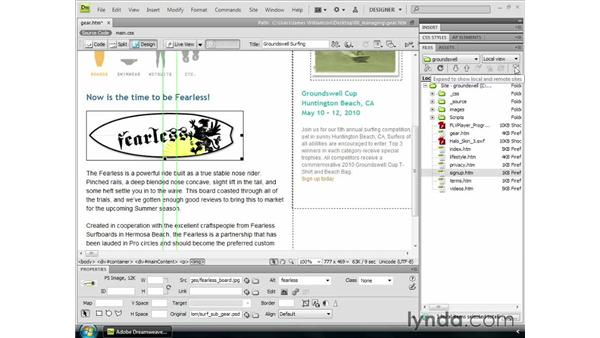 Managing and uploading sites: Dreamweaver CS4 Getting Started