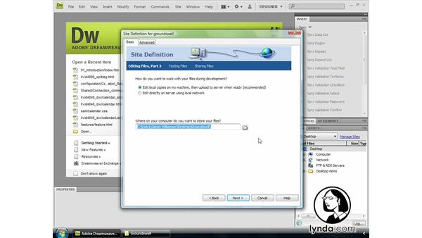 Welcome: Dreamweaver CS4 Getting Started