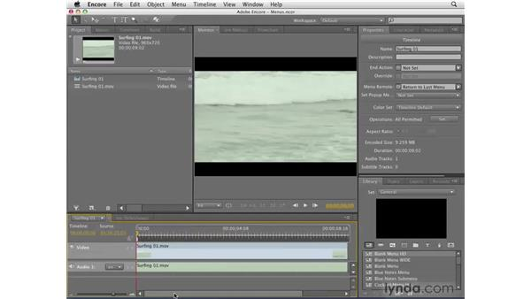 Making timelines: Encore CS4 Getting Started