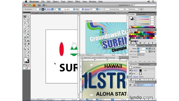The common Adobe user interface: Illustrator CS4 New Features