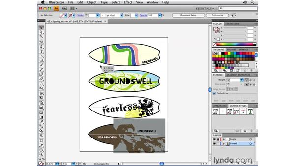 Enhanced clipping masks: Illustrator CS4 New Features