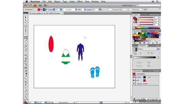 Intuitive Smart Guides: Illustrator CS4 New Features