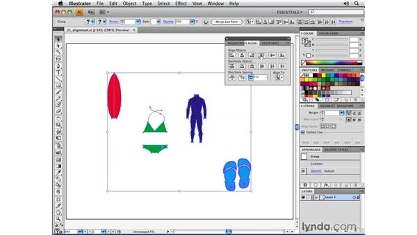 Easy-to-use alignment features: Illustrator CS4 New Features