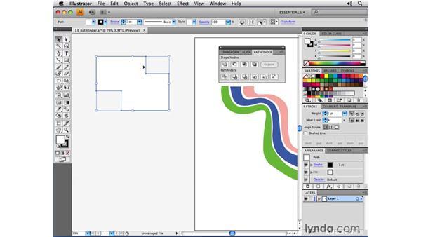 Changes to the default Pathfinder behavior: Illustrator CS4 New Features