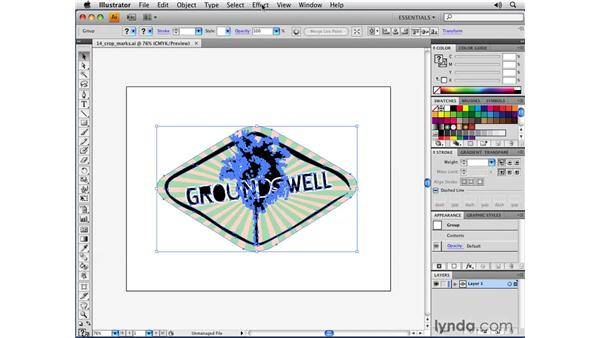 The Crop Marks live effect: Illustrator CS4 New Features