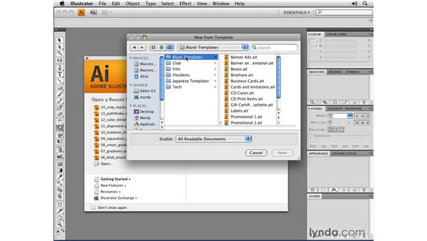 New templates and content: Illustrator CS4 New Features
