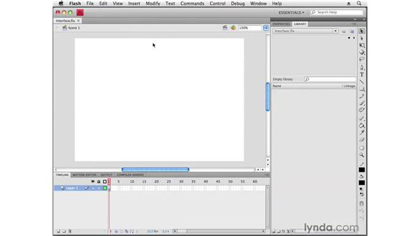 Creating a file and exploring the Flash interface: Flash CS4 Professional Getting Started