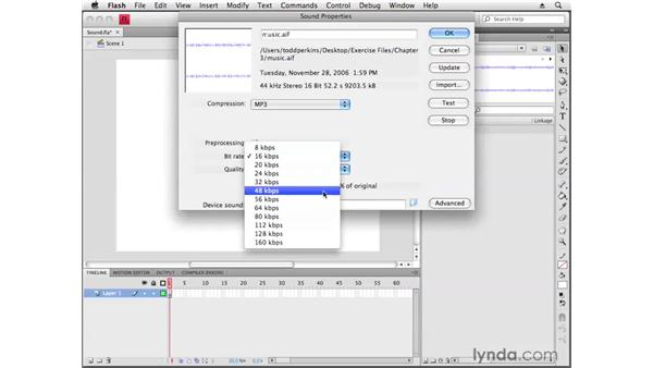 Working with sound: Flash CS4 Professional Getting Started