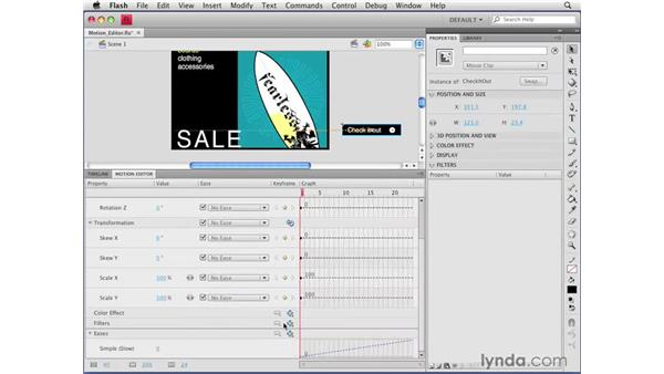 Using the Motion Editor: Flash CS4 Professional Getting Started