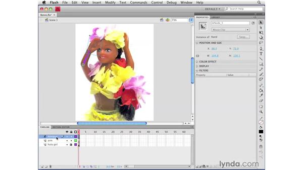 Animating bones: Flash CS4 Professional Getting Started