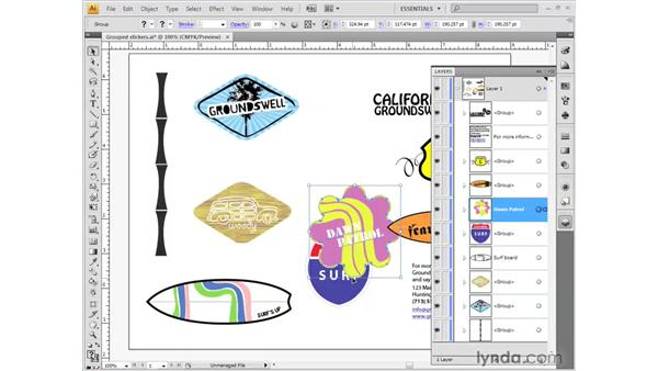 Organizing layers: Illustrator CS4 Getting Started