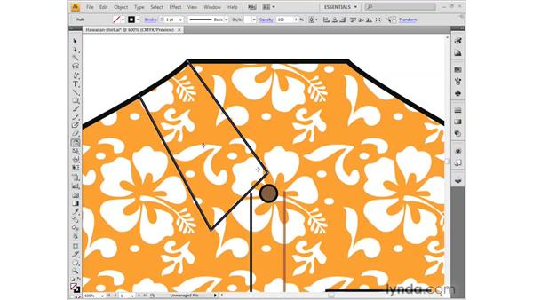 Reshaping a path outline: Illustrator CS4 Getting Started