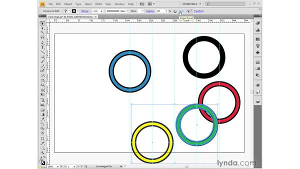 Alignment and guides: Illustrator CS4 Getting Started