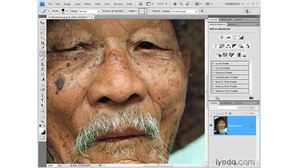 Retouching blemishes: Photoshop CS4 Getting Started