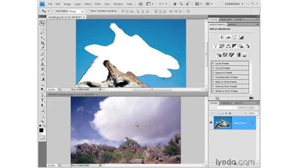Selecting portions of an image: Photoshop CS4 Getting Started