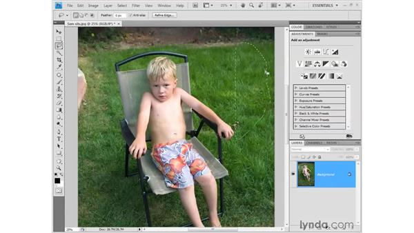 Covering up unwanted details: Photoshop CS4 Getting Started