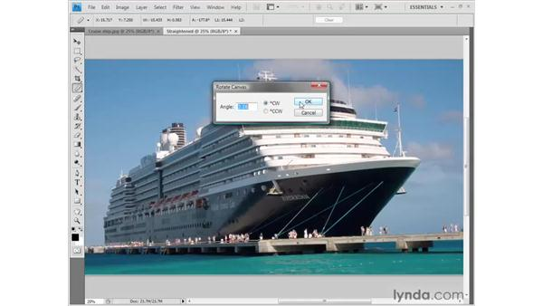 Straightening an image: Photoshop CS4 Getting Started