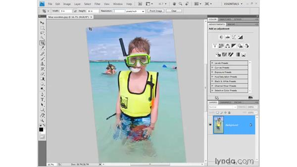 Cropping an image: Photoshop CS4 Getting Started