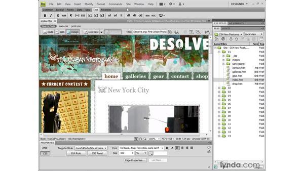 Navigating the new Dreamweaver CS4 interface: Dreamweaver CS4 New Features