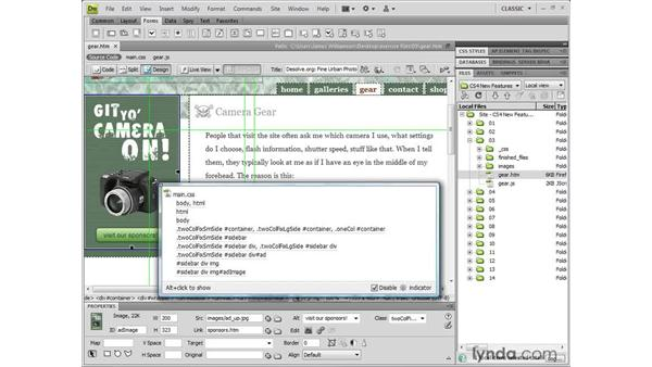 Understanding the code navigator: Dreamweaver CS4 New Features