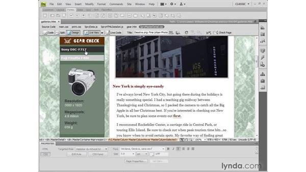 Working in Live view: Dreamweaver CS4 New Features