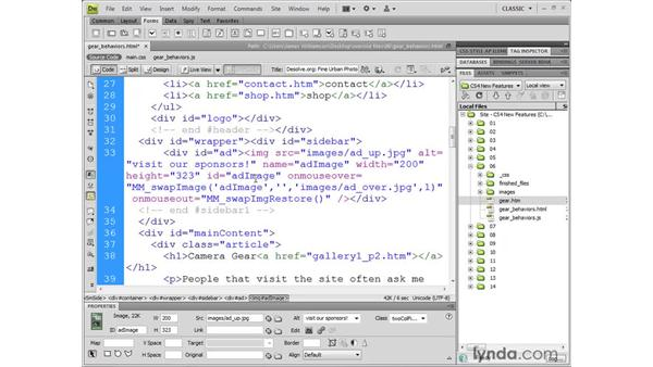 Working with the JavaScript extractor: Dreamweaver CS4 New Features