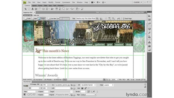 Integrating with Photoshop: Dreamweaver CS4 New Features