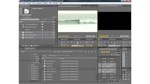 Importing and organizing assets: Premiere Pro CS4 Getting Started