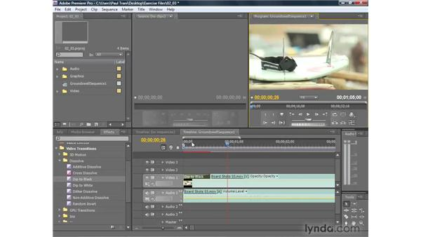 Applying transitions: Premiere Pro CS4 Getting Started