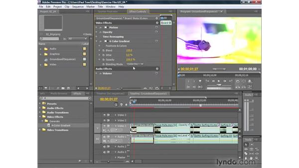 Applying effects: Premiere Pro CS4 Getting Started