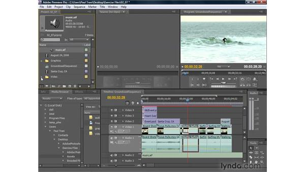 Adding and adjusting audio: Premiere Pro CS4 Getting Started