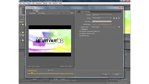 Exporting your project: Premiere Pro CS4 Getting Started