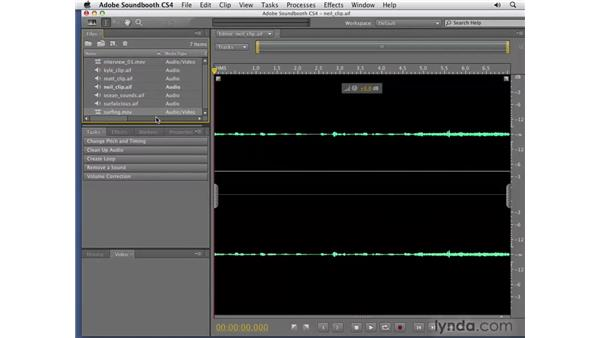 Importing audio: Soundbooth CS4 Getting Started