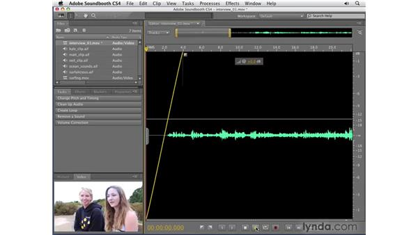On-clip editing: Soundbooth CS4 Getting Started