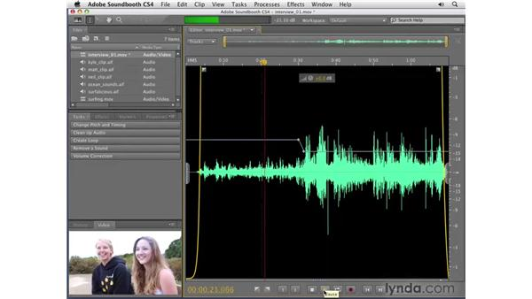 Automating volume: Soundbooth CS4 Getting Started