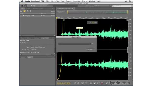 Inserting scores: Soundbooth CS4 Getting Started