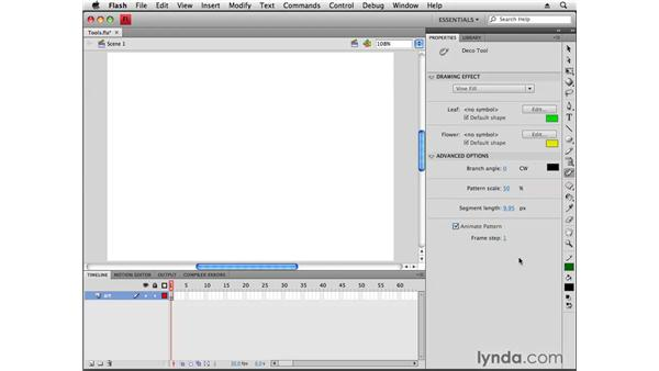 Using the new tools in the toolbar: Flash CS4 Professional New Features