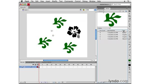 Using the Library: Flash CS4 Professional New Features