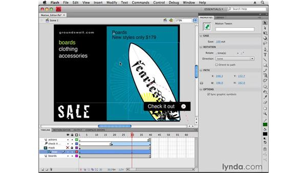 Using the motion editor: Flash CS4 Professional New Features