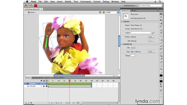 Animating with bones: Flash CS4 Professional New Features