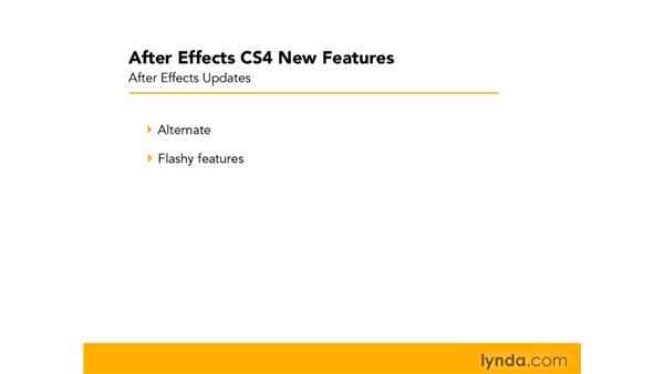 After Effects update trends: After Effects CS4 New Features