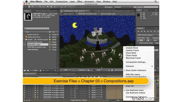 Changing comp settings from the Project panel: After Effects CS4 New Features