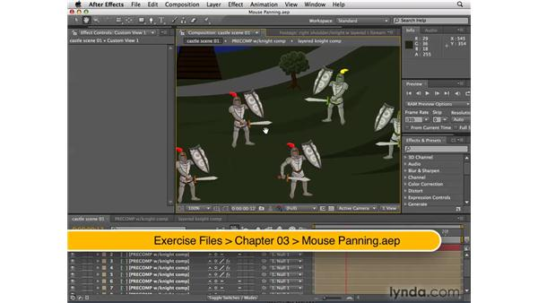 Panning with the mouse: After Effects CS4 New Features