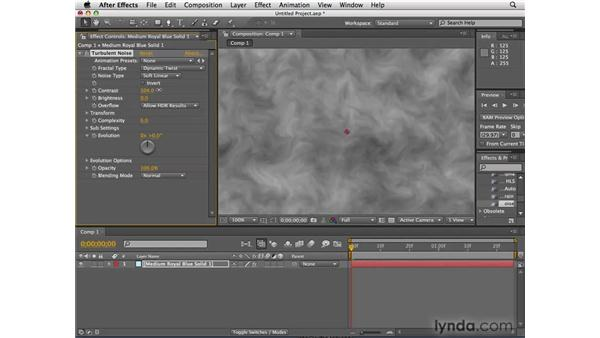 Turbulent Noise: After Effects CS4 New Features