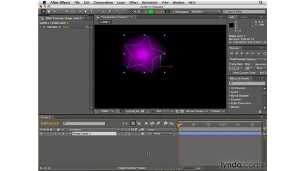 The Center in View command: After Effects CS4 New Features