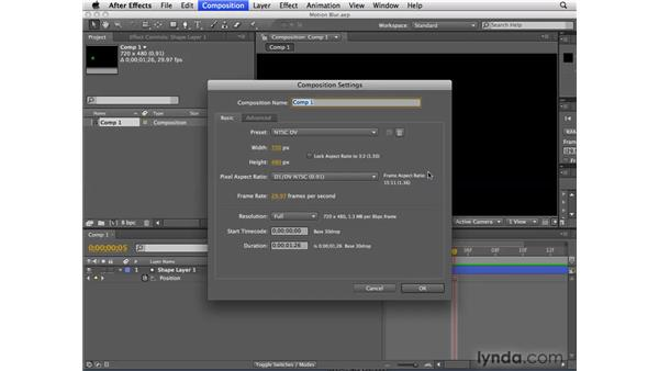 Motion blur shutter angle/phase visualization: After Effects CS4 New Features