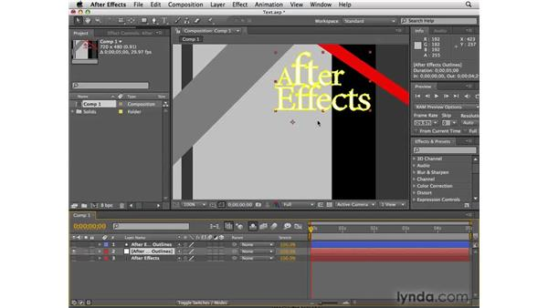 Converting text to masks or shape layers: After Effects CS4 New Features