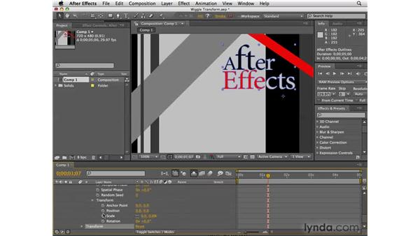 The Wiggle Transform path operation: After Effects CS4 New Features